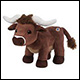 WEBKINZ - LONGHORN STEER COW - NEW