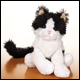 LIL WEBKINZ - BLACK AND WHITE CAT (6 COUNT)
