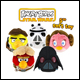 ANGRY BIRDS STAR WARS - 5 INCH PLUSH (6 COUNT NO CDU)