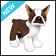 WEBKINZ - BROWN BOSTON TERRIER - NEW
