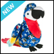 WEBKINZ - PIRATE PARROT - NEW
