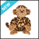 WEBKINZ - BANANA PRINT MONKEY - NEW