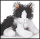 WEBKINZ - BLACK & WHITE CAT - DISCONTINUED