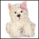 WEBKINZ - WHITE TERRIER - DISCONTINUED