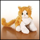 LIL WEBKINZ - GOLD & WHITE CAT (6 COUNT)