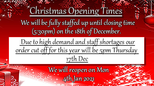 Xmas Delivery Times 2020