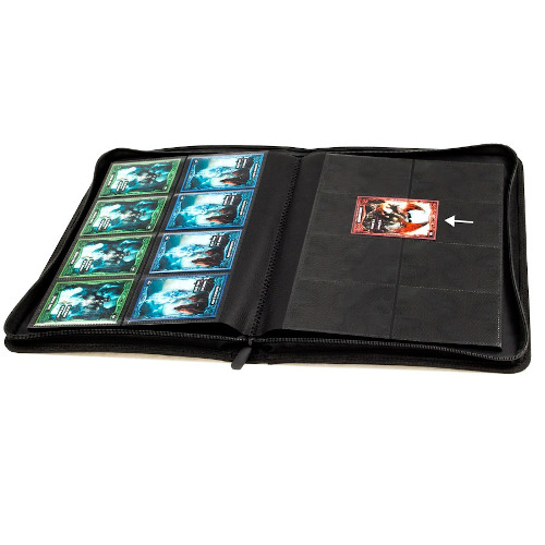Red Ultimate Guard Quad Row Zipfolio Xenoskin Card Sleeves