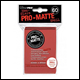 Ultra Pro - Small Pro Matte Card Sleeves 60pk - Red (10 Count CDU)