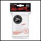 Ultra Pro - Small Pro Matte Card Sleeves 60pk - White (10 Count CDU)
