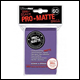 Ultra Pro - Small Pro Matte Card Sleeves 60pk - Purple (10 Count CDU)