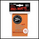 Ultra Pro - Small Pro Matte Card Sleeves 60pk - Orange (10 Count CDU)