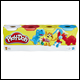 PLAY DOH - 4 PACK CLASSIC COLOUR ASSORTMENT (8 COUNT)