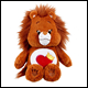 CARE BEARS - BRAVE HEART LION MEDIUM PLUSH WITH DVD