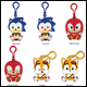SONIC BOOM - VINYL KEYCHAIN ASSORTMENT (6 COUNT) - T22534A1