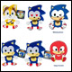 Sonic Boom - 8 Inch Emoji Basic Plush Assortment (6 Count)
