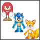 Classic Sonic - 3 Inch Single Figure Pack Assortment (6 Count)