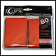 ULTRA PRO - ECLIPSE STANDARD PRO MATTE (80 PACK) - RED - 85250