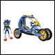 Sonic Boom - Blue Force One/Transforming Bike Set (4 count)