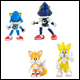 CLASSIC SONIC - 3 INCH 2 PACK FIGURE WITH COMIC (4 COUNT) - T22529A1