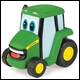 John Deere - Push & Roll Johnny Tractor (4 Count)