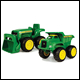 JOHN DEERE - SANDBOX TOYS - MINI SANDBOX TRACTOR AND DUMP TRUCK SET (3 COUNT)