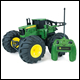 JOHN DEERE - MONSTER TREADS - RADIO CONTROLLED TRACTOR - 42921