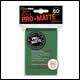 Ultra Pro - Small Pro Matte Card Sleeves 60pk - Green (10 Count CDU)
