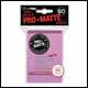 Ultra Pro - Small Pro Matte Card Sleeves 60pk - Pink (10 Count CDU)