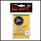 Ultra Pro - Small Pro Matte Card Sleeves 60pk - Yellow (10 Count CDU)