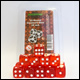 Blackfire Dice - 16mm D6 Dice Set in Box - Transparent Red (15 Dice)