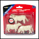 Britains - Simmental/ Charolais Cows Set (6 Count)