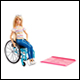 Barbie - Doll With Wheelchair Accessory & Ramp (2 Count)