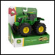 John Deere - Monster Treads -  6 Inch Lights and Sounds Tractor (4 Count)