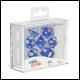 Oakie Doakie Dice - RPG Set 7 Pack Speckled - Blue