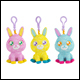 Doodle Bear Bunny - Clip On Assortment (6 Count)