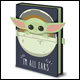 Star Wars - Baby Yoda 3D All Ears With Pocket Notebook (10 Count)
