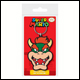 Super Mario - Bowser Rubber Keyring (5 Count)