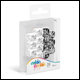 Oakie Doakie Dice - D6 Dice 12mm 14 Pack Marble/Gemidice Positive & Negative - White