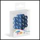 Oakie Doakie Dice - D6 Dice 12mm 14 Pack Marble/Gemidice Positive & Negative - Blue
