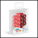 Oakie Doakie Dice - D6 Dice 12mm 14 Pack Marble/Gemidice Positive & Negative - Red