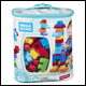 Mega Bloks - 60 Piece Big Building Bag - Blue (6 Count)