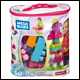 Mega Bloks - 60 Piece Big Building Bag - Pink (6 Count)