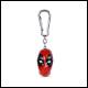 Deadpool - Head 3D Keychain (10 Count)