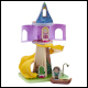 Disney Princess - Wooden Rapunzels Tower & Figurine Playset