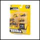 Tonka - Micro Metals 4 Pack - Dump Truck, Cement Mixer, Bull Dozer, Garbage Truck (6 Count)