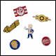 Fallout - Fallout 76 Set Of 6 Metal Pins
