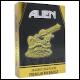 Alien - 24K Gold Plated XL Premium Pin Badge
