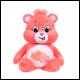 Care Bears - 9 Inch Bean Plush - Love-A-Lot Bear (12 Count)