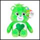Care Bears - 9 Inch Bean Plush - Good Luck Bear (12 Count)